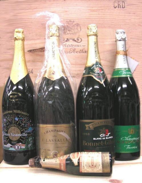 ジェロボアム3リットル シャンパーニュ3L4本分のご案内 シャンパン古酒