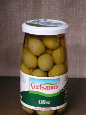 チェルサヌス グリーンオリーブ塩水漬け(イタリア産塩漬けグリーンオリーブ)
